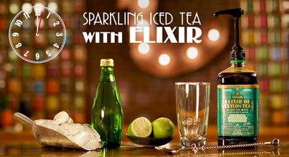 How to make sparkling iced tea with Elixir of Ceylon Tea