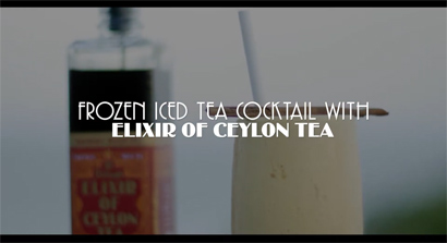 Frozen Iced Tea Cocktail with Elixir of Ceylon Tea