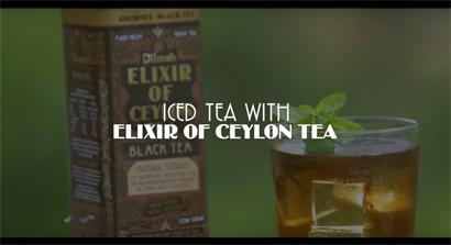 Iced Tea with Elixir of Ceylon Tea