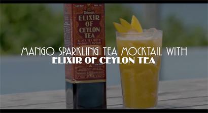 Mango Sparkling Tea Mocktail with Elixir of Ceylon Tea