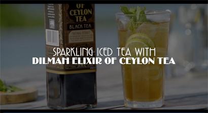 Sparkling Iced Tea with Dilmah Elixir of Ceylon Tea