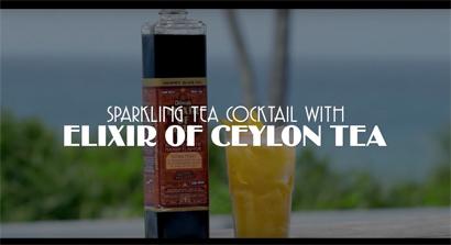 Sparkling Tea Cocktail with Elixir of Ceylon Tea